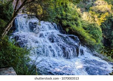 Brazil, Rio Grande do Sul, Gramado Canela, Parque do Caracol Cascata Extraordinary Nature Waterfall Landscape View