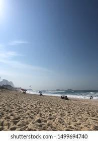 BRAZIL, RJ, RIO DE JANEIRO - SETEMBRO 08, 2019: sunny day at Barra da Tijuca beach in Rio de Janeiro