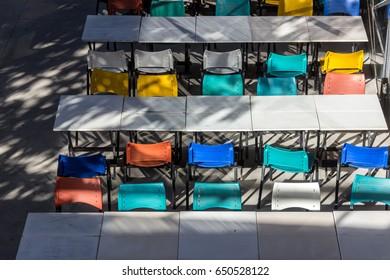 Brazil, Sao Paulo - May 14, 2016: Interiors of Centro Cultural Sao Paulo on a sunny sunday