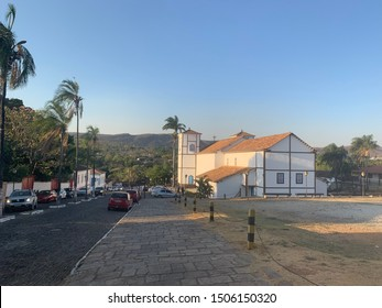 Pirenópolis, Goiás, Brazil, September 21, 2019: Church Our Lady of the Rosary, patron saint of Pirenópolis, colonial style, for the Goian people is the largest center of the Catholic faith.