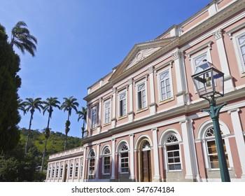 Brazil, State of Rio de Janeiro, Petropolis, Exterior view of the The Museu Imperial de Petropolis.