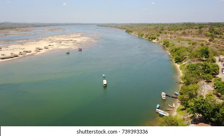 BRAZIL, TOCANTINOPOLIS, September, 2017. Tocantins river