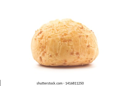 Brazilian Cheese Bread, Traditional snack called 'Pao de queijo' in Brazil. Big Size on white background