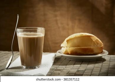 Brazilian coffee with milk