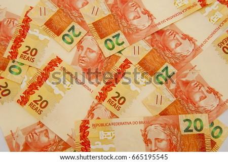 Brazilian Currency 20 Brl Stock Photo Edit Now 665195545