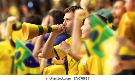 Brazilian fans, soccer