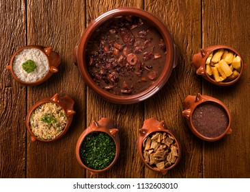 Brazilian Feijoada Food. Top view