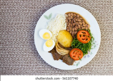 Brazilian food dish with a view from above