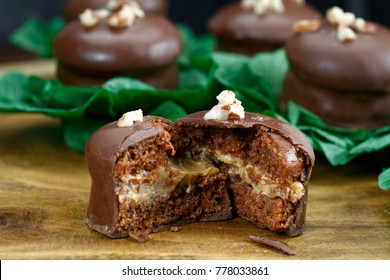 Brazilian honey cookie with chocolate - pao de mel