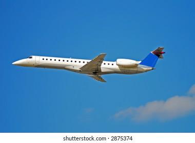 Brazilian made Embraer regional jet