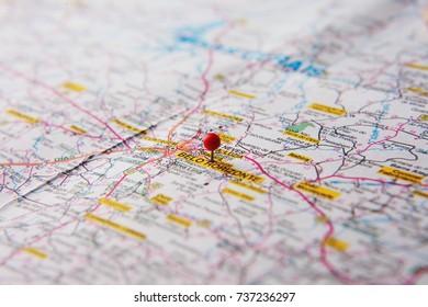 Brazilian Map Close Up Belo Horizonte Stock Photo Royalty Free
