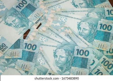 Brazilian money, banknote 100 reais