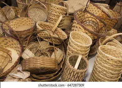 Brazilian northeast culture - handmade Carnauba straw baskets