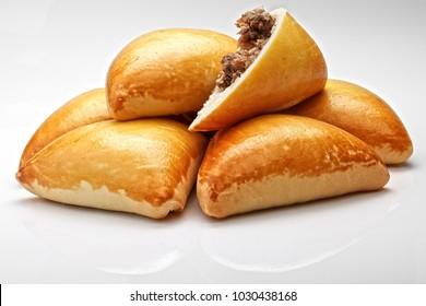 Brazilian snack. Meat Esfiha