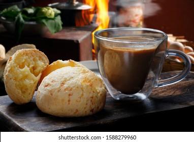 Brazilian snack, traditional cheese bread from Minas Gerais - pao de queijo