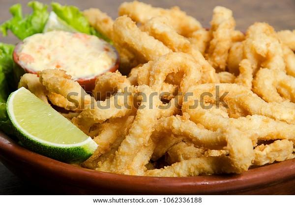 Brazilian style fried fish portion