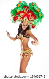 Brazilian wearing Samba Costume