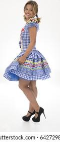 Brazilian woman Junina Party costume