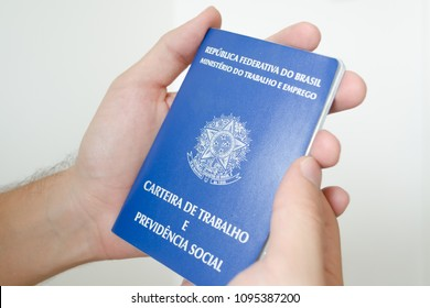 a brazilian work permit document (carteira de trabalho), used by people looking for a job