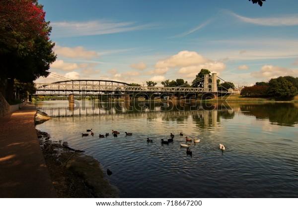 Brazos River Bridge in Waco Texas