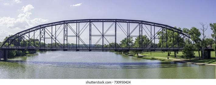Brazos river bridge in Waco, TX.