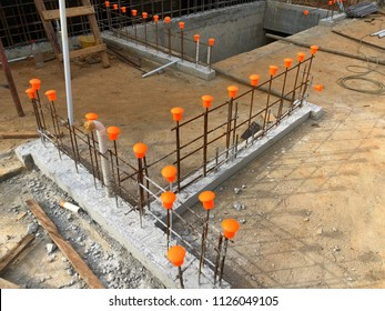 Brc bar protection for site construction to prevent worker to hit into the body.
