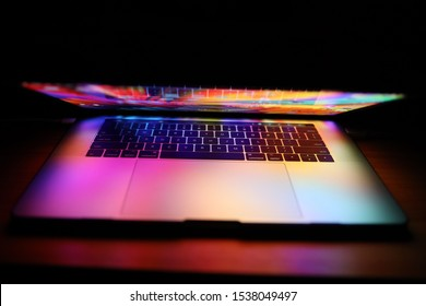 "Brcko district, Bosnia and Herzegovina - October 19 2019: Apple MacBook Pro 15"" notebook with Touchbar"