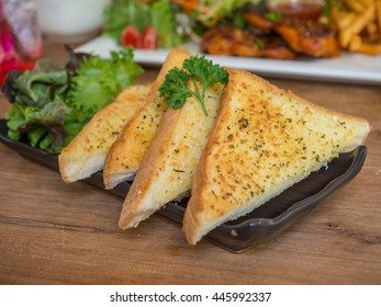 bread baked with garlic and herb