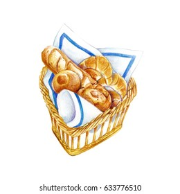 Bread in basket.