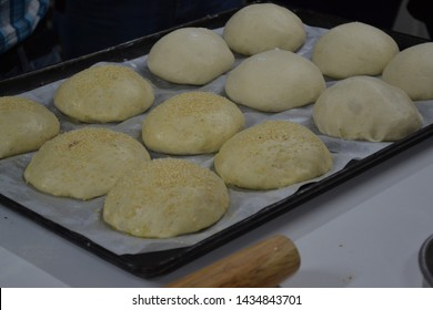 Bread before being baked typical of the Mexican bakery