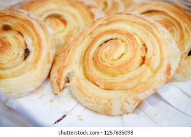 Bread Buns in a Basket for Breakfast
