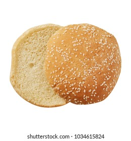 Bread. Burger burger. Round. For cooking. Cut. For your design. Isolated.