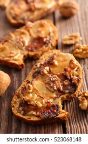 bread with cheese,walnut and honey