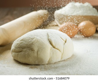 Bread Cooking.Dough