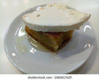 Bread dessert which are specific to the province of Afyonkarahisar in Turkey amazingly delicious Turkish  dessert