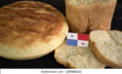Bread with flag of Panama. World wheat import export trade