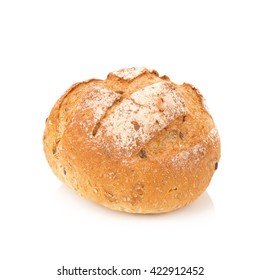 Bread isolated on white background.