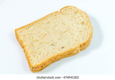 Bread isolates on white background