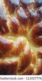 Bread kalach close view