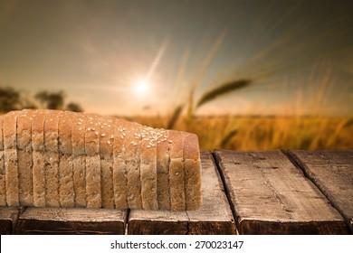 Bread, Loaf of Bread, Sliced Bread.