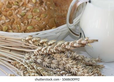 Bread, milk and grain