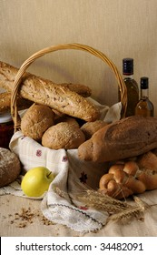 bread, oil and fruit