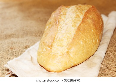 bread on the sack background