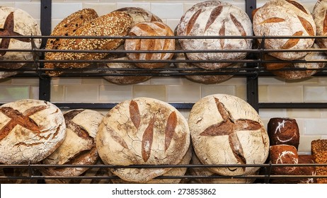 bread on the shelves