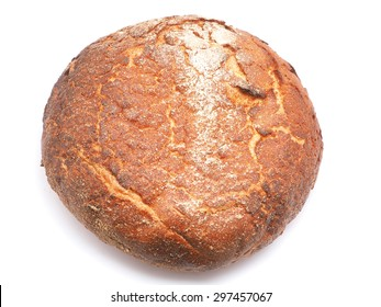 bread on a white background