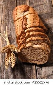 bread on wood background