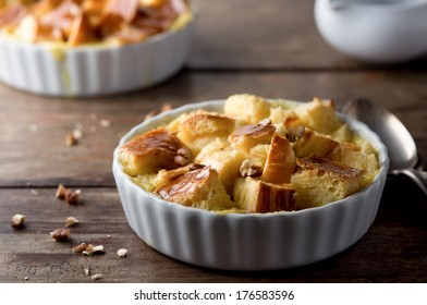 Bread Pudding with Walnuts