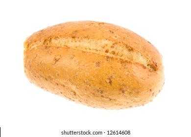 Bread roll isolated on a white background.