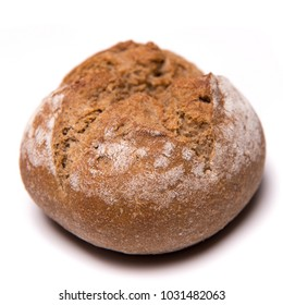 bread roll, bread on a white background, isolated