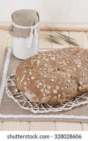 bread round artisan grain rustic